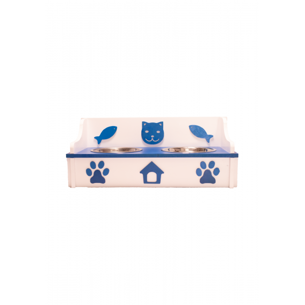 Feeder Lite 45 x 20 x 18cm, white and blue