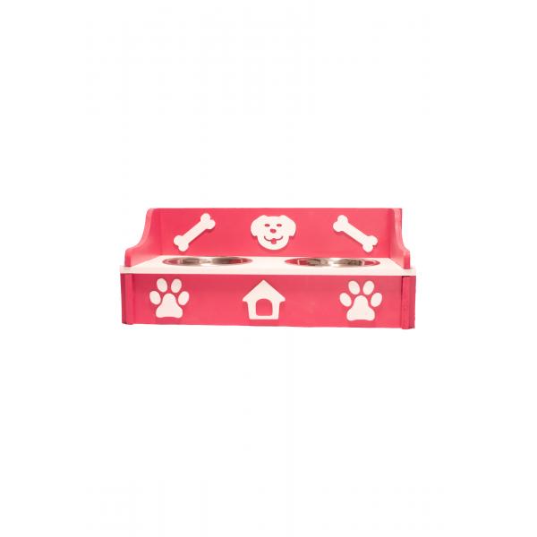 Feeder Lite 45 x 20 x 18cm, white and pink