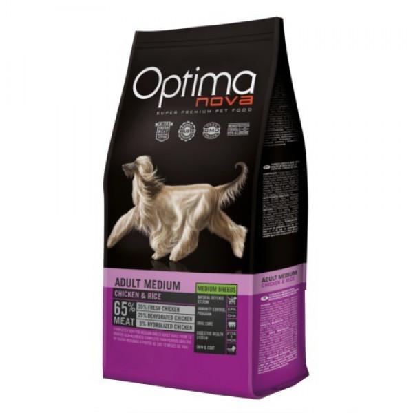 Optima Nova Adult Medium para perros adultos de razas medianas, 12kg