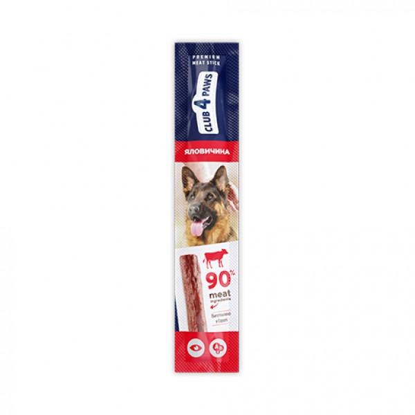 CLUB 4 PAWS Premium Barrita de carne: VACA. Comida complementaria para perros