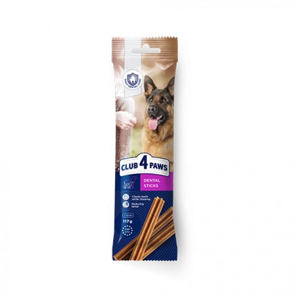 CLUB 4 PAWS Premium Dental sticks. Comida complementaria para perros adultos