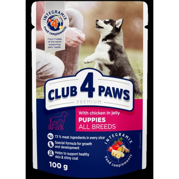 CLUB 4 PAWS Pienso húmedo para cachorros con pavo en salsa, 0,1kg